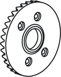 Corona acciaio per trasmissione 1:10 - Jamara