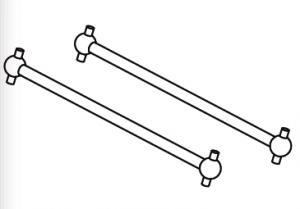 Cardani posteriori da 76 mm buggy 1:10 - Jamara